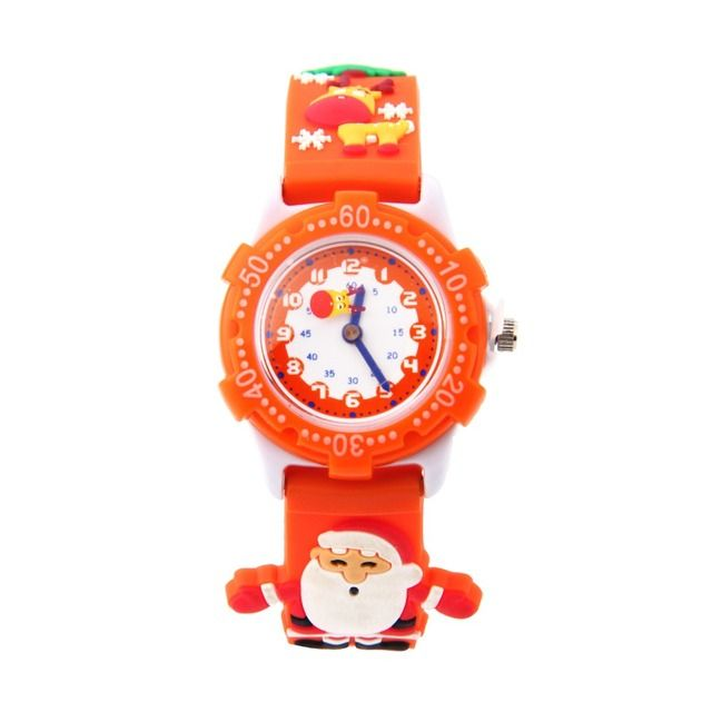 100pcs/lot wholesales 4colors hot sales cartoon Santa Claus kids boys girls activity gifts watch quartz silicone wristwatch