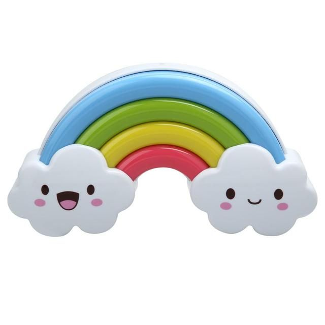 New Cartoon Rainbow Clouds Night Light Lamp Wall Socket Light Control LED Nightlight With Switch Kids Baby Bedroom Night Lamp