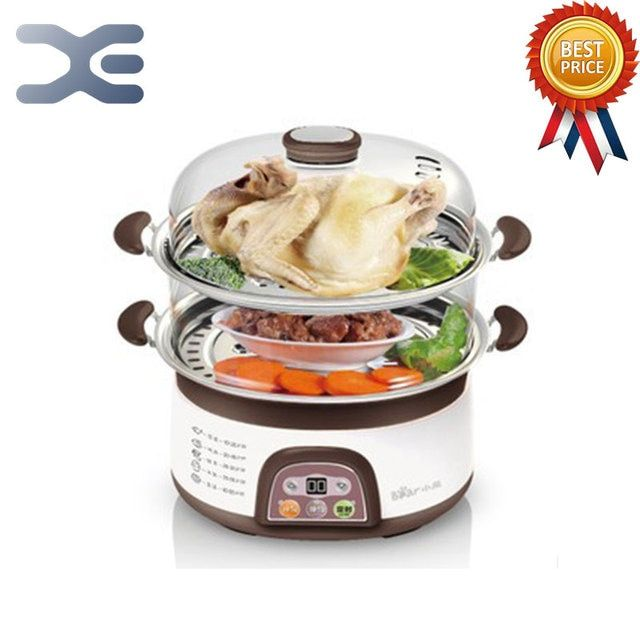 220V Food Warmer Steamer Bun Warmer Cooking Appliances Steamed Electric Steamer 6-8L