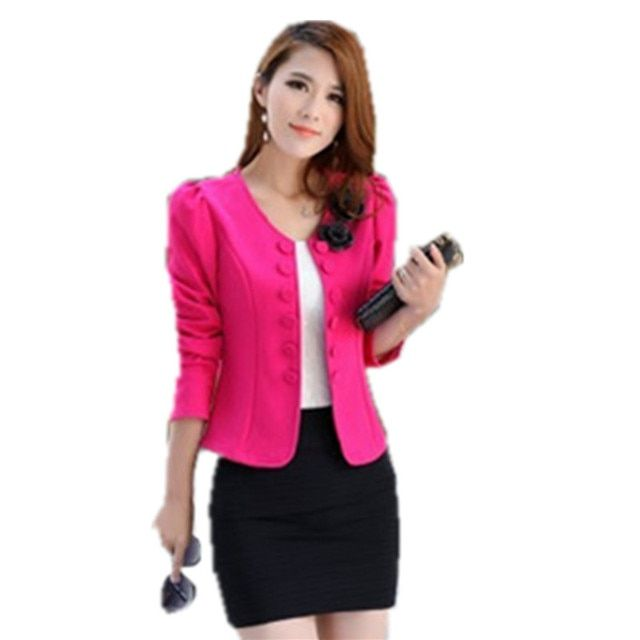 2016 New Fashion Style Colorful Women Blazers Brand Slim Suit Jacket High Quality Double Breasted Floral Cardigan Coat BL003