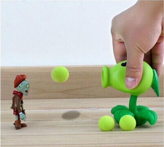 hotsell Plants vs zombies PVC Action Figure Model Toy Peashooter creative Gifts plant vs zombi  2 Pea shooter Anime toys whole