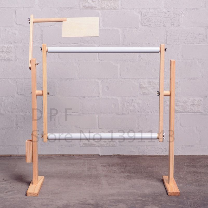 DPF Adjustable solid wood cross stitch rack,50cm embroidery frame wooden stand desktop use for cross stitch frame hot sale