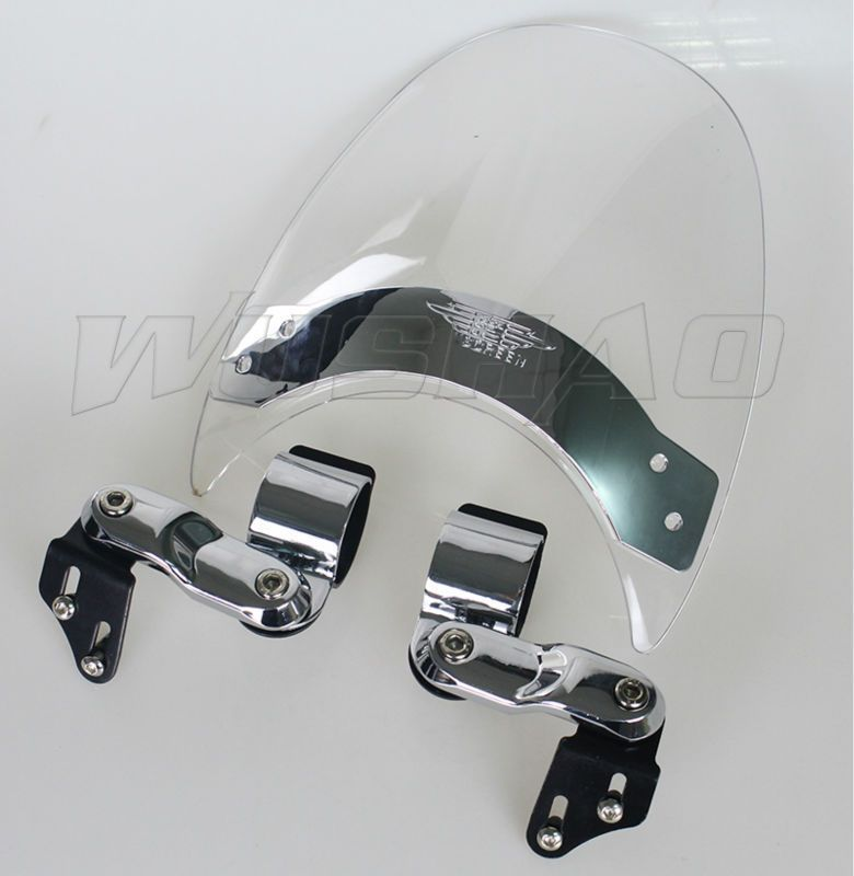 Windshield WindScreen For 2004-2005 Harley Dyna Super Wide Glide FXDI FXDWGI Sport FXDXI Custom FXDC FXDCI Low Rider FXDLI Clear
