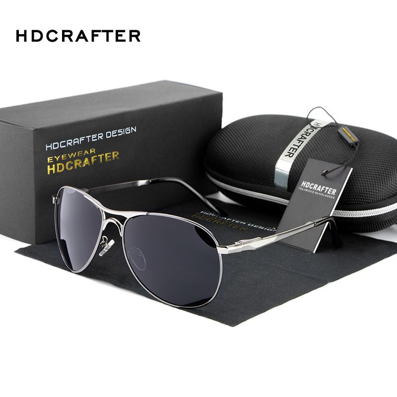 UV400 driving Sunglasses 2016 top High Quality Polarized men Aviation Sunglasses brand Designer  rayed protection Vintage
