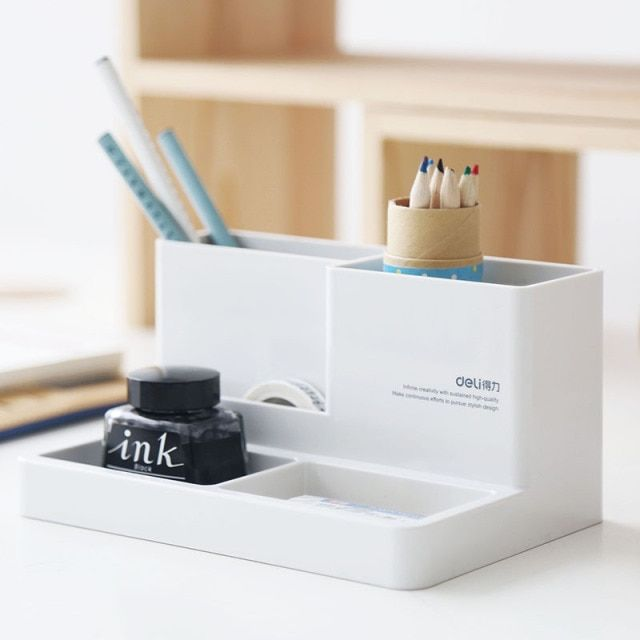Stationery multi - functional creative fashion pen holder desktop Decoration office supplies storage box pen holder
