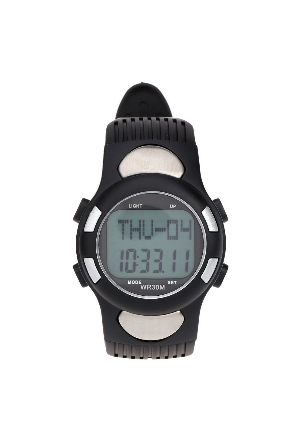 JHO-3ATM Water-resistant Sports Pulse Heart Rate Monitor Fitness Exercise Watch Pedometer Calorie Stopwatch Outdoor Cycling