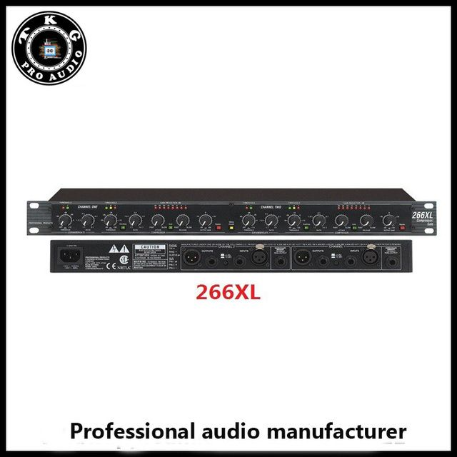 TKG sound systems equipment dj audio Professional precision maximizer dual channel compressor limiter 266XL speaker limiter