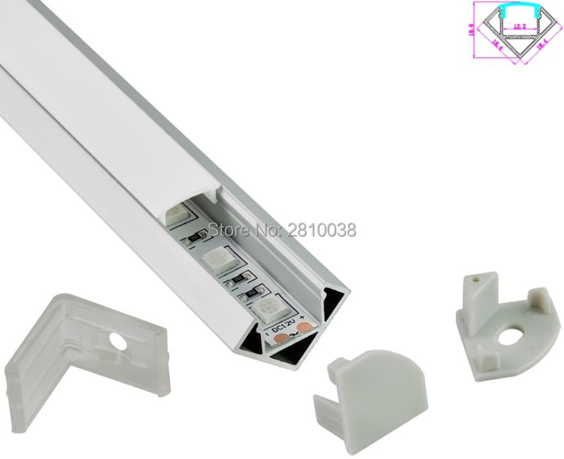 10 X 1M Sets/Lot 30 Degree Angle Aluminiumprofil led leisten and Anodised Aluminium profile led for Cabinet or kitchen lights