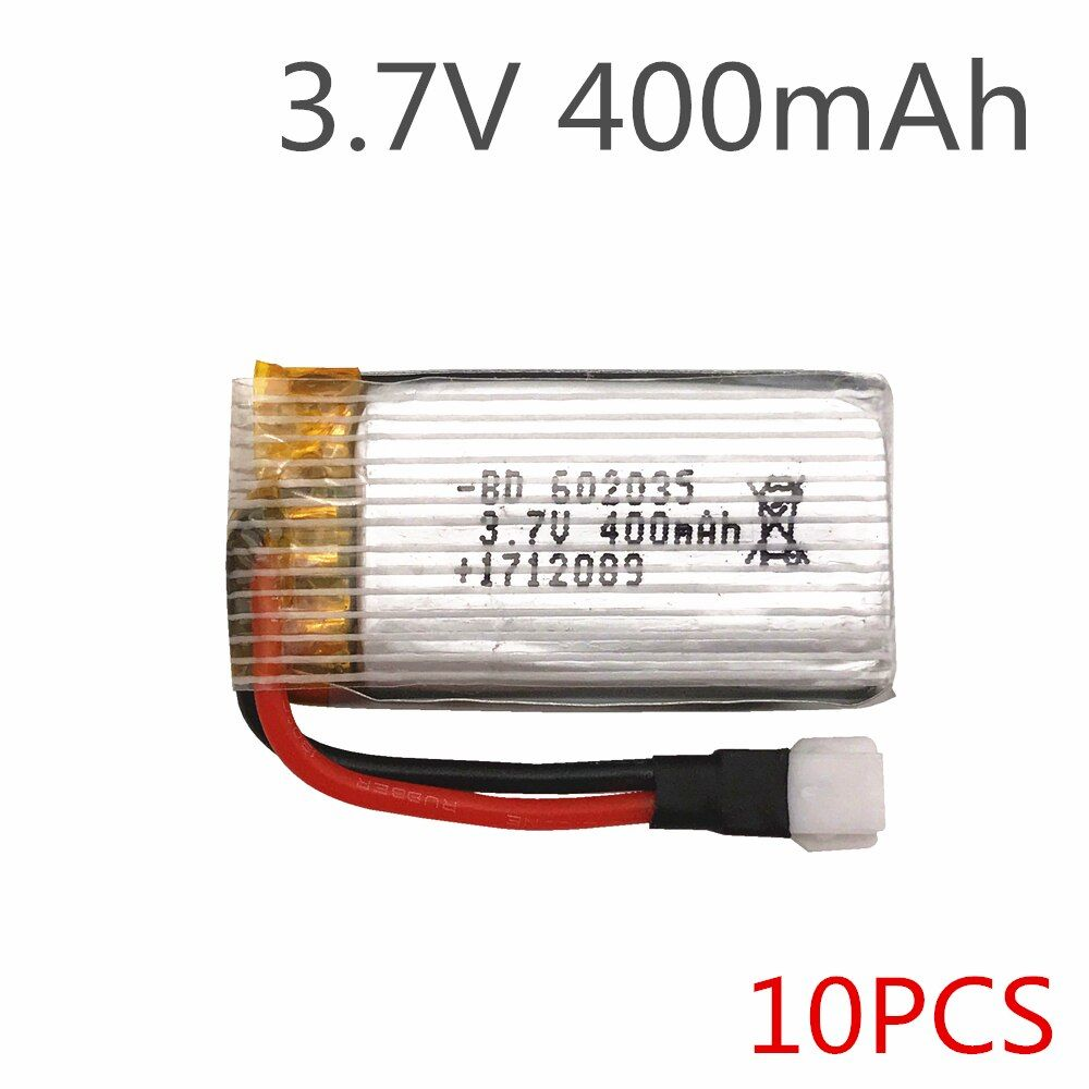 10pcs/lot Limskey Original H107 X4 H31 Spare Parts 3.7V 400mah Battery H31-011 Lipo battery 3.7 V 400 mah For H31 XH plug 30C