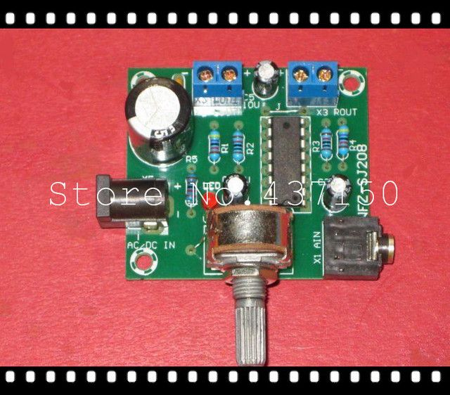 3-6V USB powered SJ2038 5Wx2 fidelity amplifier board finished , power amplifier board