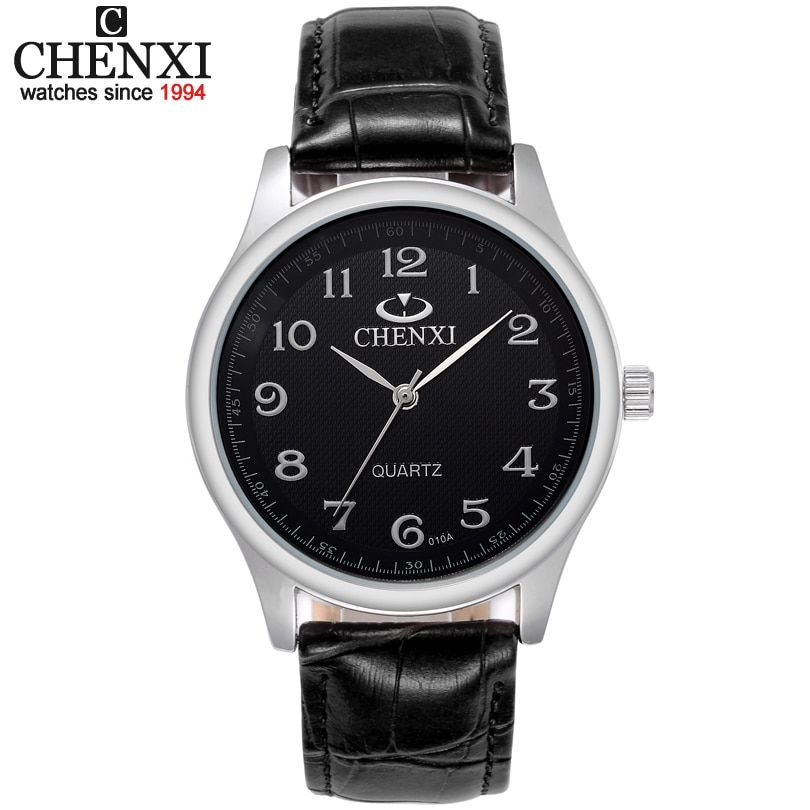 HOT NEW 3ATM FASHION Water Resistant!! CHENXI Brand Leather Strap Watch for Mens Fashion Style Quartz  Watches 010A clock