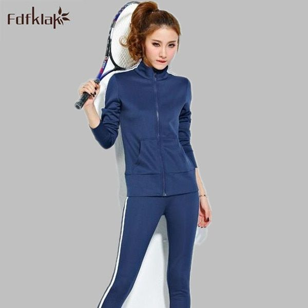 2017 Women Tracksuit Brand New Tops+Pants One Set Women's Clothing Suit Ladies Tracksuits 2 Pieces Sets Sportwear Q264
