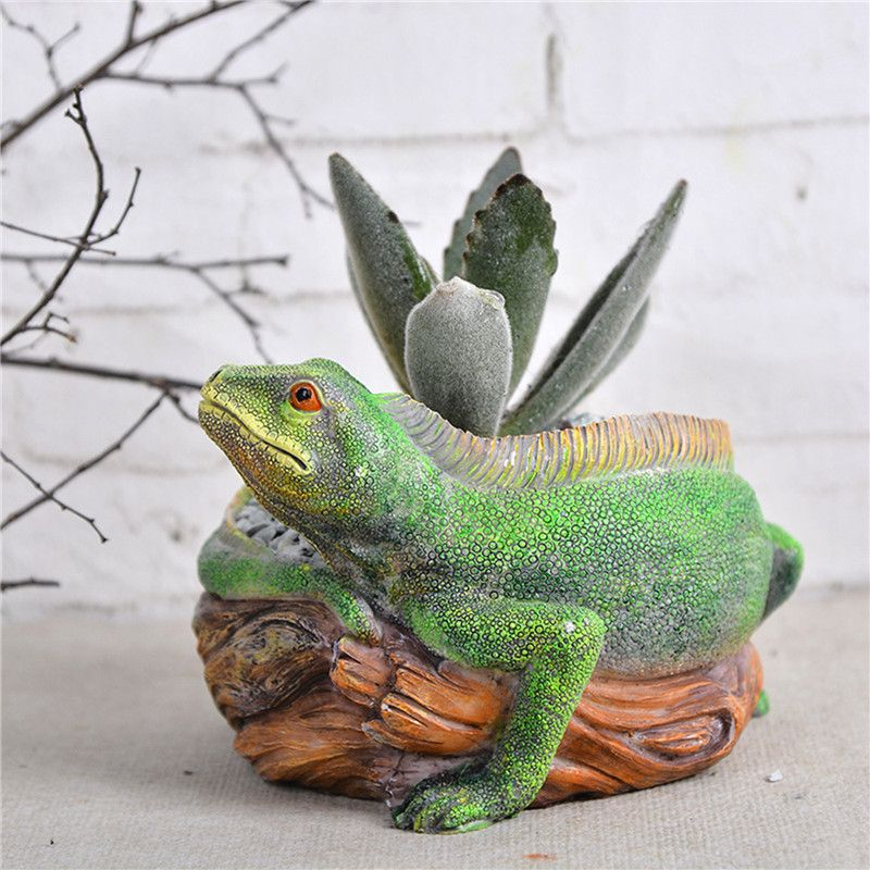 cute Lizard Resin planters pots pallets for flowers succulents pots garden plant planter supplies flowers holder pot