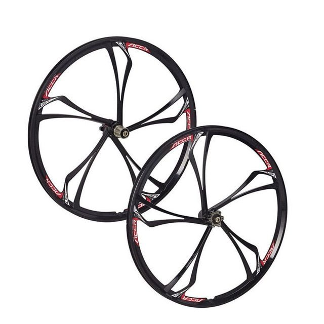 "MTB 6 spokes mountain bike wheels Cassette 8/9/10 Speeds magnesium alloy  wheels 26""   Mountain Bicycle Wheel parts bike rims"