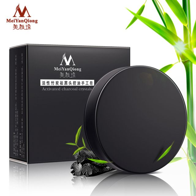 activated charcoal crystals handmade soap face skin whitening soap for remove blackhead and oil control washing a face soap