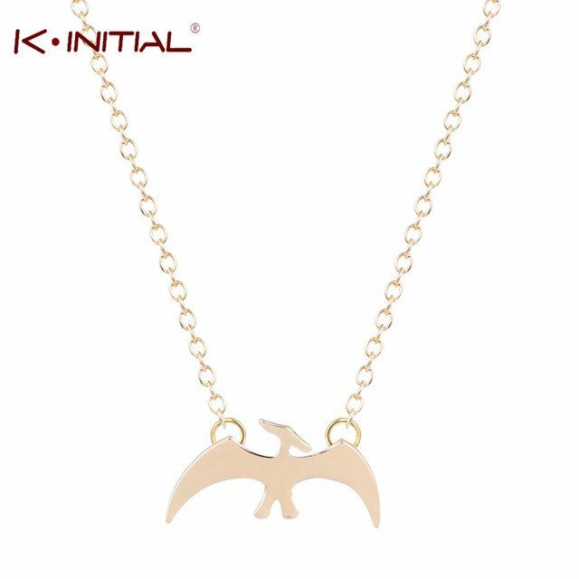 Kinitial 1Pcs Dinosaur Necklace Pendant Pterodactyl Charm Necklace Chocker Dinosaur Jewelry Chocker Necklace For Women Collares