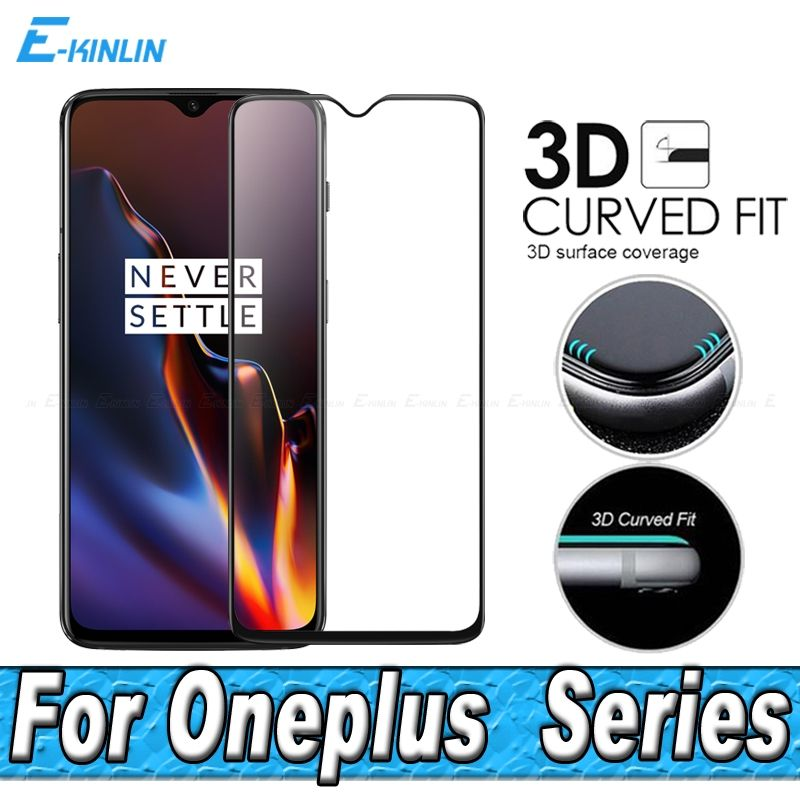 Screen Protector Toughened Protective Glass For One Plus OnePlus 7T 7 6T 6 5T 5 Full Cover 3D Curved Edge Tempered Glass Film
