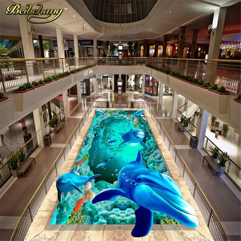 beibehang Custom Photo Wallpaper papel de parede 3D Underwater World Starfish Bathroom floor painting Mural PVC Wall paper roll