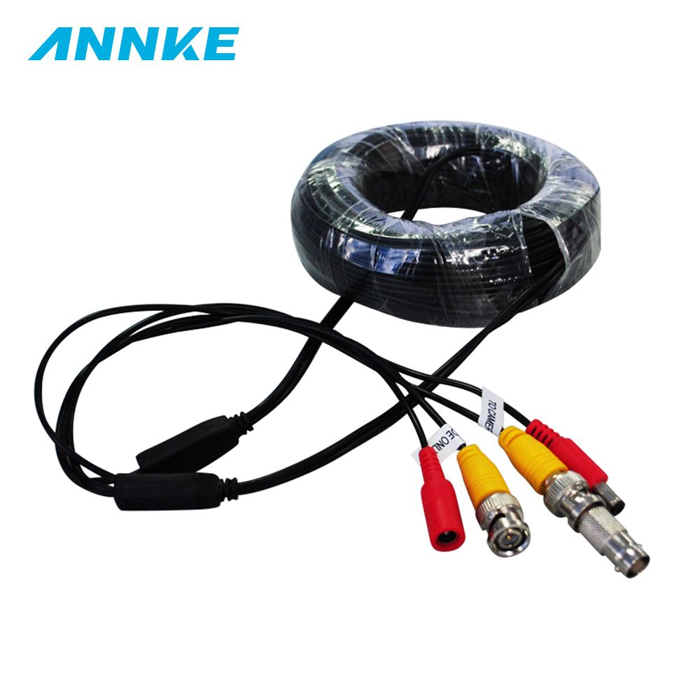 ANNKE BNC Video Power Siamese Cable 65ft 18m for Analog AHD CVI CCTV Surveillance Camera Surveillance DVR Kit