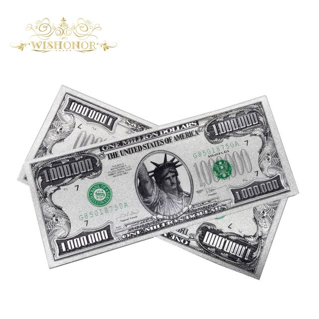 Hot selling Products US 1 Million Dollar Bill Banknote, Gold Banknote Paper Money Souvenir Currency for collection (Single Side)