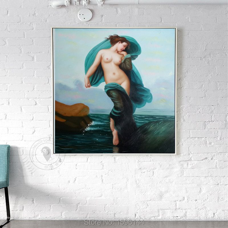 Modern hot sexy woman picture canvas arts Classical nude woman oil painting for bedroom wall decoration