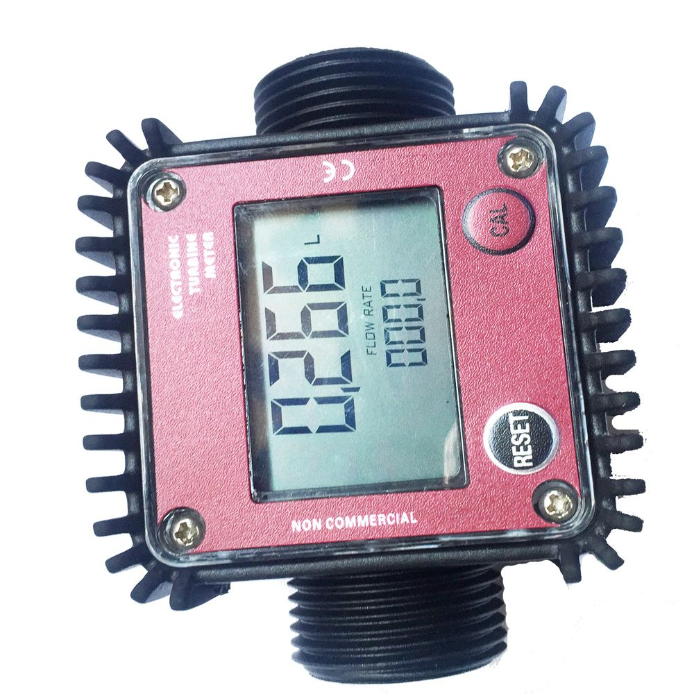 K24 turbine flow meter Plastic Interface 1 inch digital liquid flow meter electronic tester water flowmeter tools