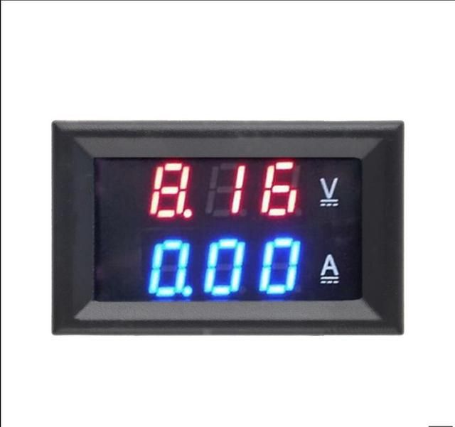 Free Shipping DC 0-100V 10A Voltmeter Ammeter Red+ Blue LED Amp Dual Digital Volt Meter Gauge LED display