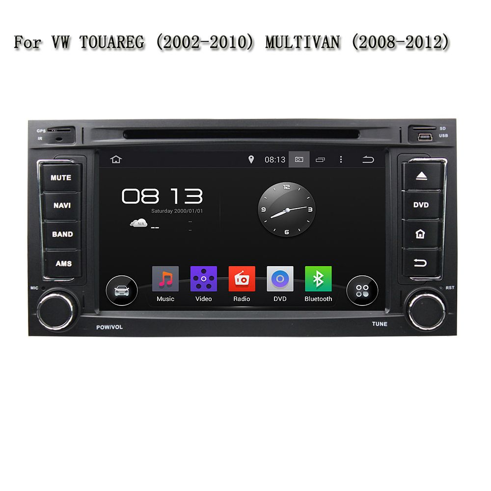 7 Inch Car Multimedia Entertainment System Android 5.1.1 GPS Navi Car Dvd Player For VW TOUAREG / MULTIVAN With Can-Bus
