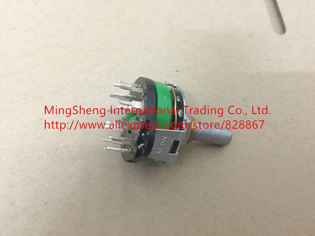 Original new 100% Japan import rotary switch SRRM1C7800 band switch 4 knife 3 files 360 degrees full rotating shaft length 20MM