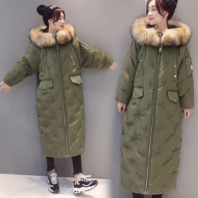 2016 Winter thick cotton jacket women long large size ladies cotton Parkas female fat Hooded Coat loose women