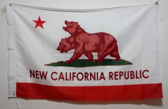 New California Republic Flag 3X5FT 150X90CM Banner brass metal holes