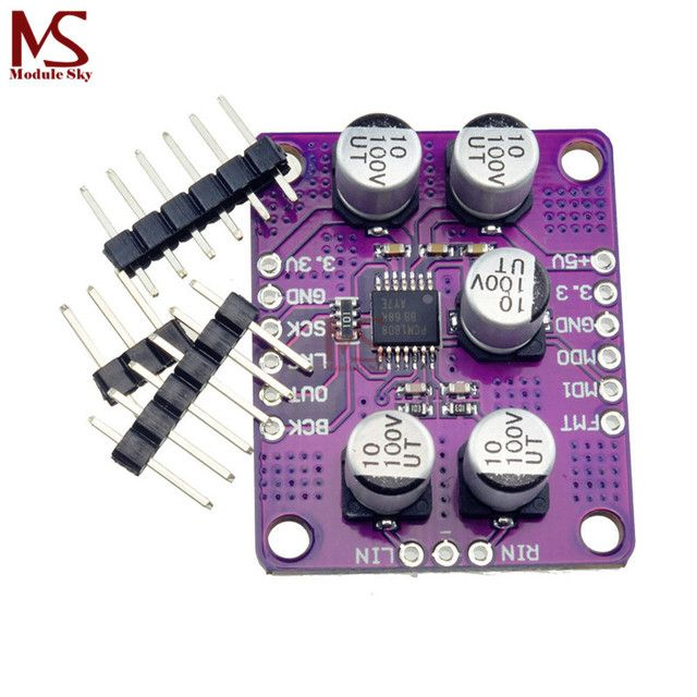 PCM1808 105dB SNR Audio Stereo ADC Single-Ended Analog-Input Decoder 24bit Amplifier Board Player Module