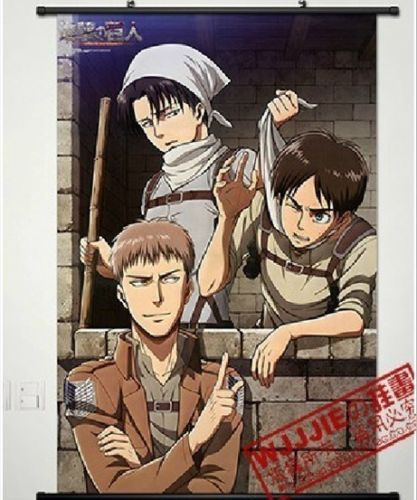 Home Decor Anime new Shingeki no Kyojin /Attack on Titan POSTER WALL Scroll A