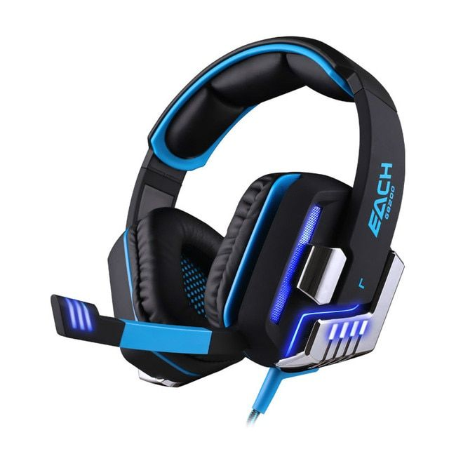 EACH G8200 Pro 7.1 Surround Sound USB Vibration Function Gaming Headset Stereo Bass Gamer Headphone With Mic LED Light For PC
