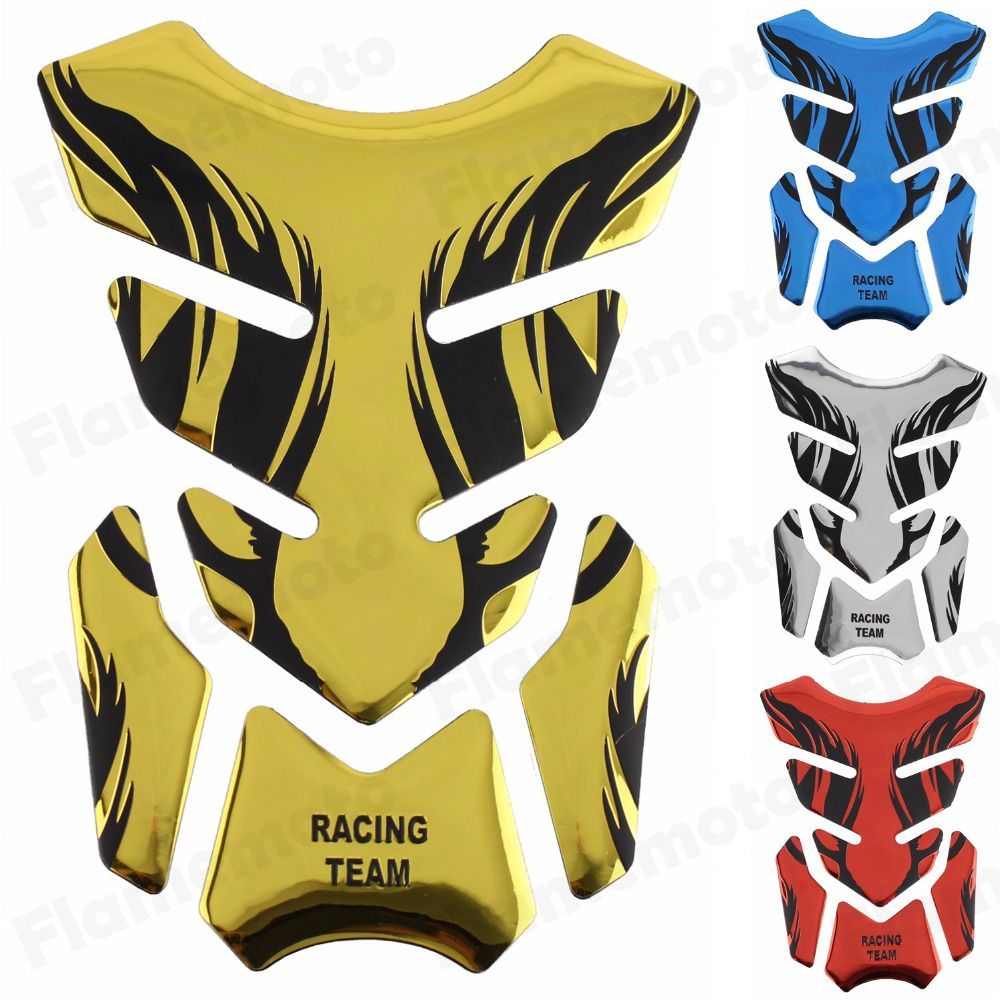 Chrome Golden Motorcycle Sticker Gas Tank Pad Stickers Decals Protecter for Honda CBR 600 F3 600RR 1000RR NSR VTR 125 250 400