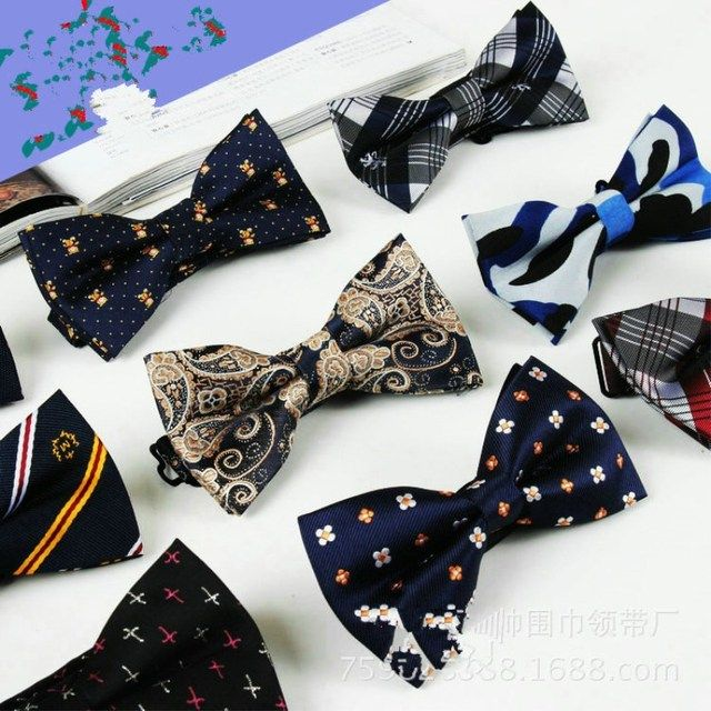 2017 Fashion Male Bow Ties For Men Married Decoration Butterfly Block Color Dress Suit Gravatas British Explosion Papillon #c0