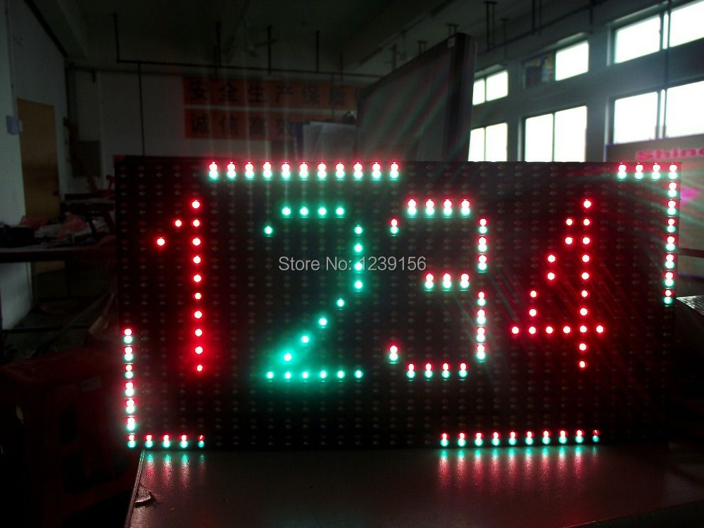 Leeman P10 RG color led module, outdoor 1R1G dual color led message moving scrolling sign display