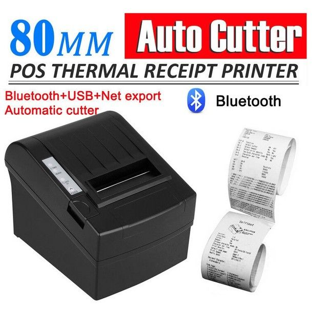 Bluetooth Wireless 80mm POS Thermal Receipt Printer 300mm/s Auto Cutter USB Port Android PC Compatible_DHL