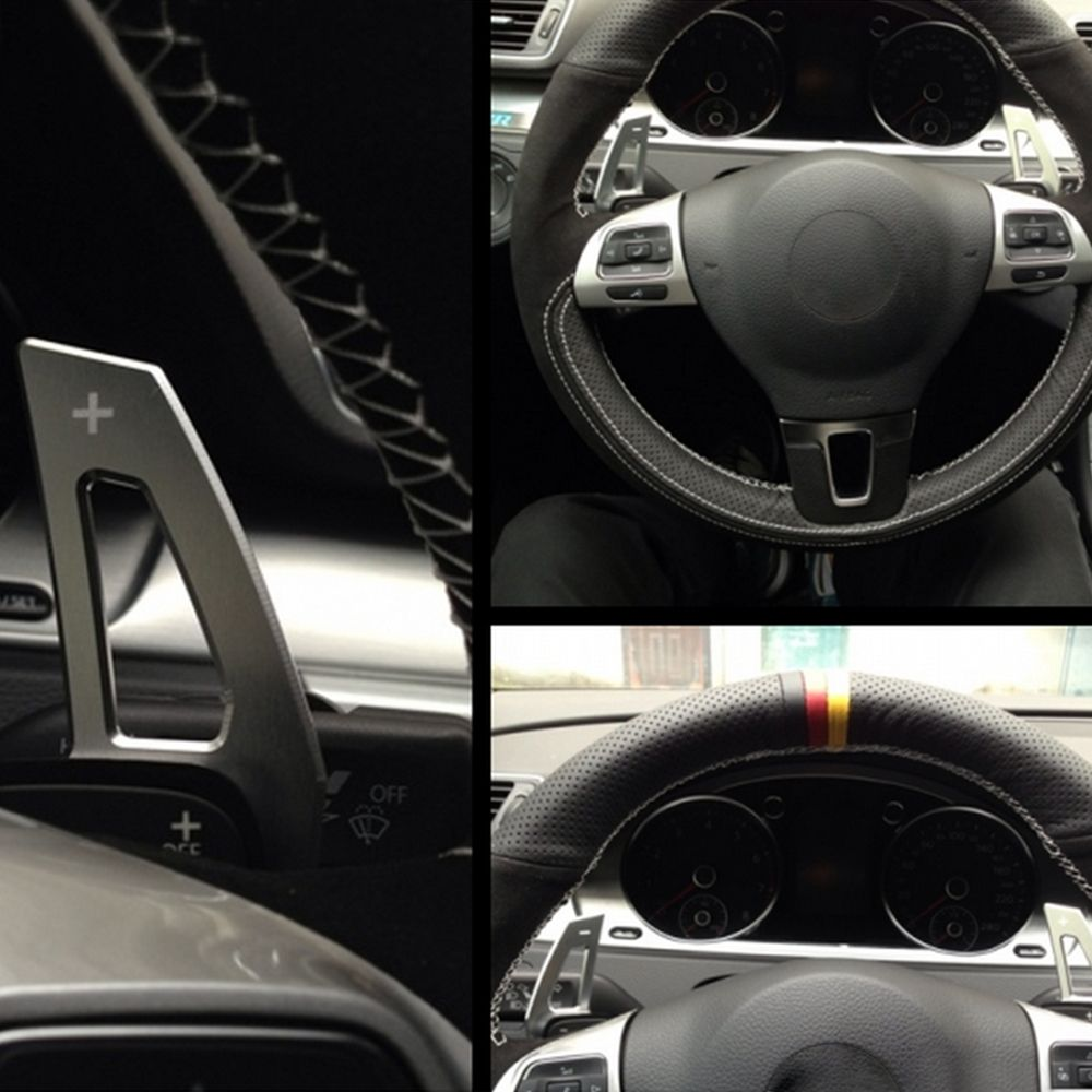 Steering Wheel DSG Paddle Extension Shifters Shifter Sticker Cover for Volkswagen VW Golf GTI R GTE GTD MK7 * Not for Golf 7 *