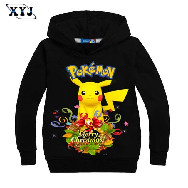 2016 Children Long Sleeve T-shirt Baby Girl Tees For Boys Pokemon Hoodies Christmas Costume Kids Clothing Autumn Casual Tops