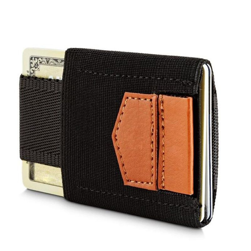 Genuine Leather Mini Credit Card ID Holder Elastic Card Holders Cardholder Card Wallet Men Women