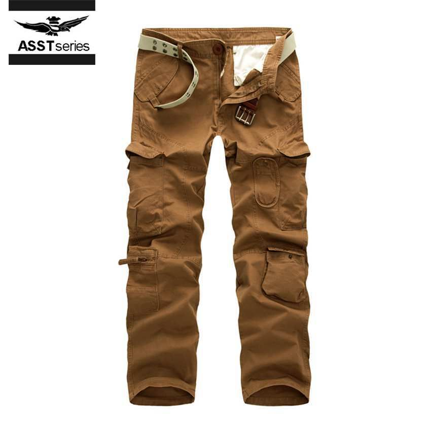 Fashion Military Cargo Pants Men Loose Baggy Tactical Trousers Oustdoor Casual Cotton Cargo Pants Men Multi Pockets Big size 219