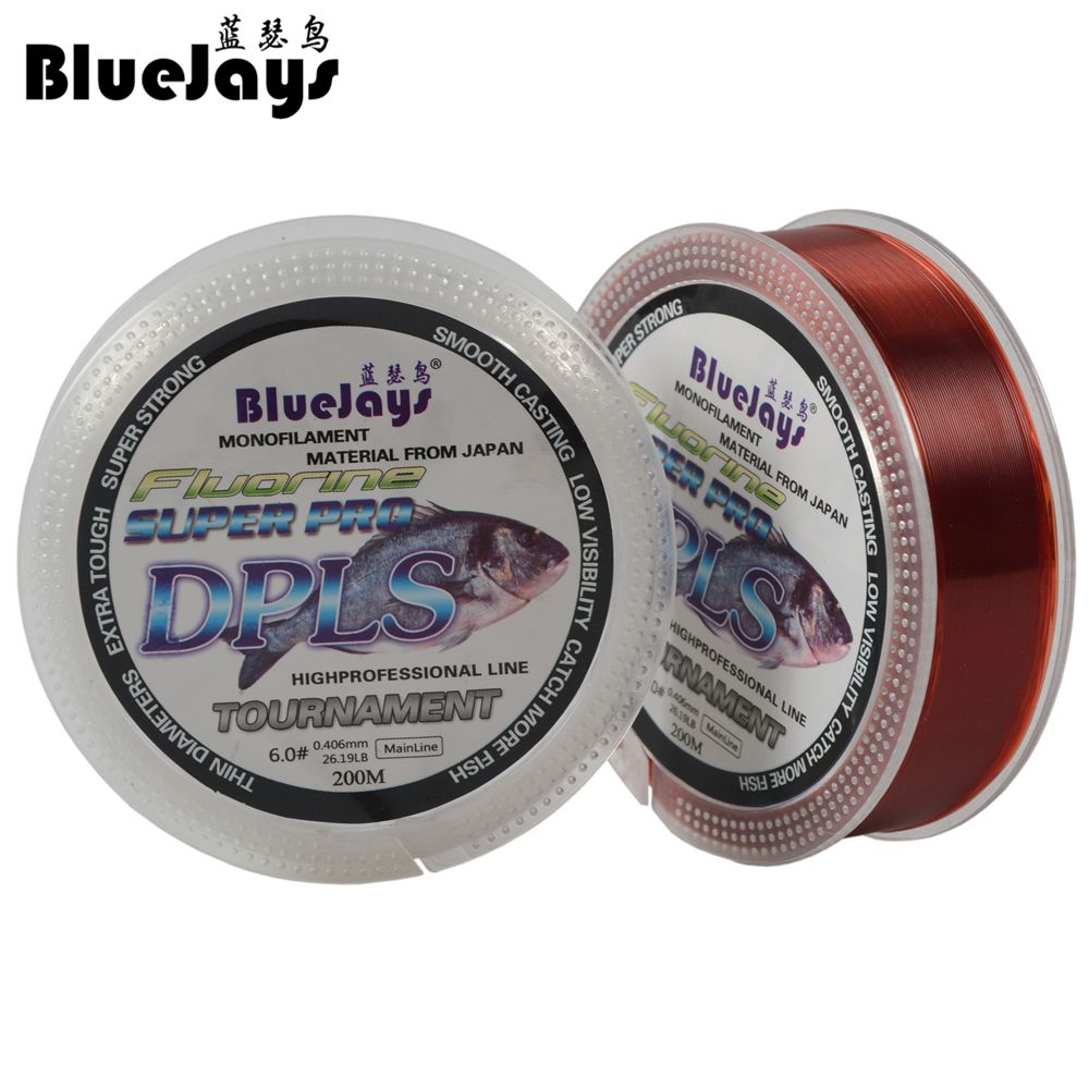 Promotion! Fishing Line Brand Super Strong Japanese 200m 100% Nylon Transparent Not Fluorocarbon Fishing Line Fishing Tackle