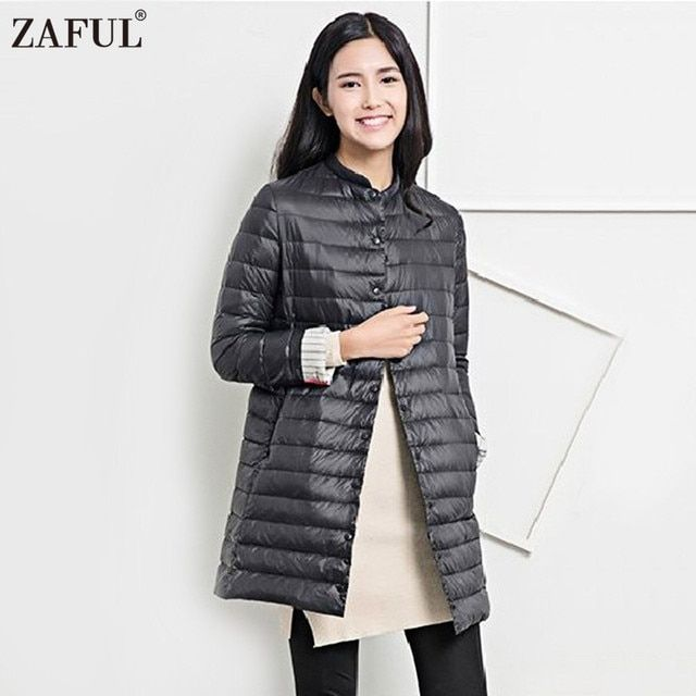 ZAFUL Wadded Winter Jacket Women Cotton Long Jacket 2016 Fur Slim Padded Coat Outwear High Quality Warm Chaquetas Parka Feminina
