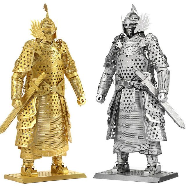 3D Metal Puzzles for children Adults Model Toys  for Children/Adult Jigsaws Metal golden armor General Tahan educational toys