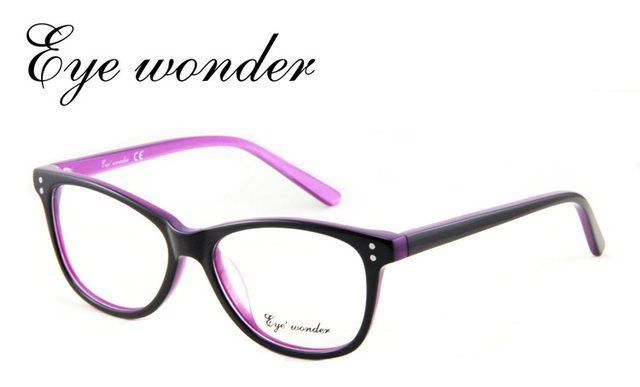 Eye wonder Women Vintage Glasses Frames Designer Optical Frame Acetate Spectacle Oculos de grau Lunettes Eyewear accessories