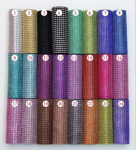 Cake Decorating 10 Yard 24 Rows Rhinestone Cake Tools Diamond Mesh Wrap Roll Crystal Looking Ribbon Trim Home Wedding Decoration