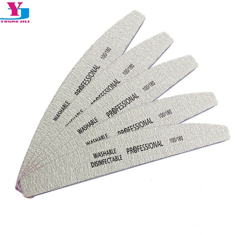 5Pcs/Lot Nail File 100/180 Sanding Buffer Block Pedicure Manicure Buffing Polish Beauty Tools Professional Nail Files Grey Boat