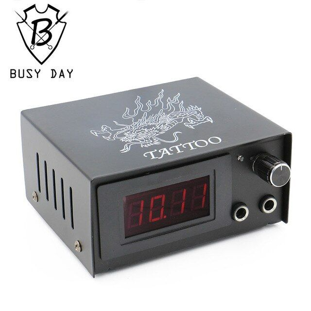 Professional Tattoo Power Supply Digital Dual LCD Tattoo Power Supply For Tattoo Machine Gun Free Shipping