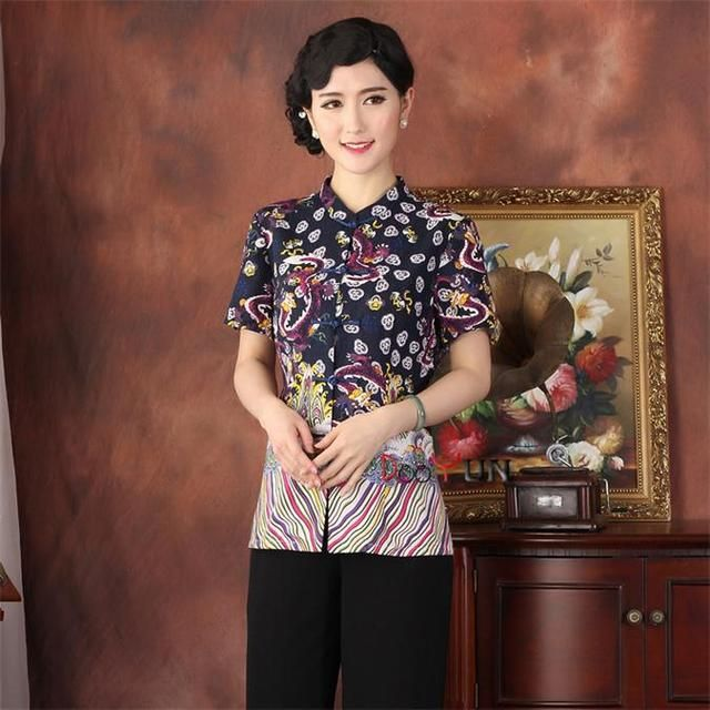 Free Shipping!!!New Arrival ChineseTradition Women's Cotton Linen Shirt Blouse Tops M L XL XXL 3XL 4XL  201506